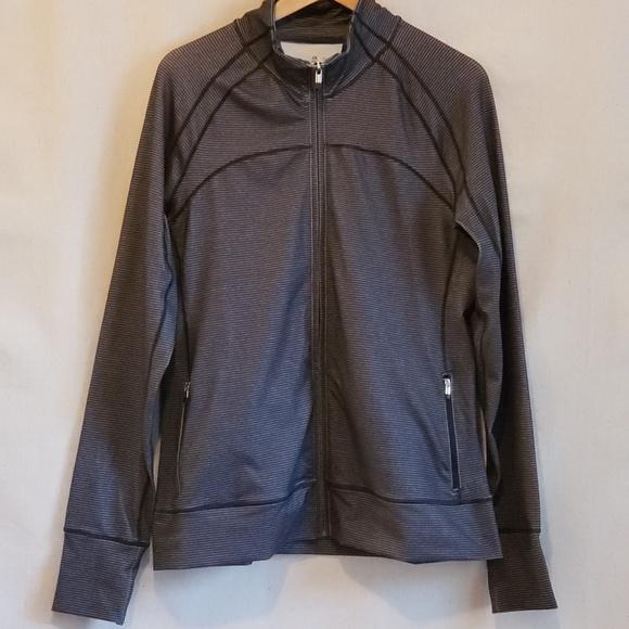 GAP Jackets & Blazers - GAP Fit striped Track athletic jacket L EUC